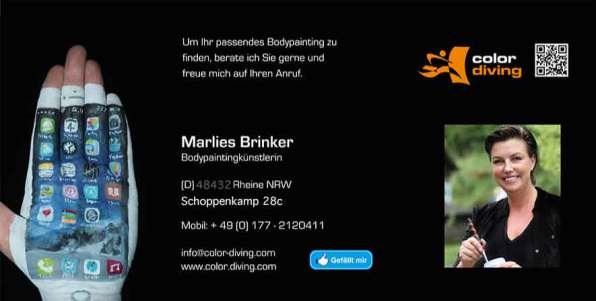 Bodypainting color diving, Marlies Brinker, NRW