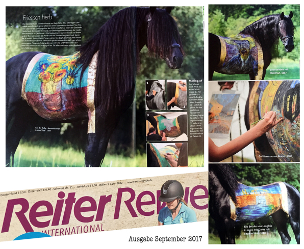 Horse Painting, Vincent van Gogh, CHIO Aachen, Bodypainting Marlies Brinker www.color-diving.com