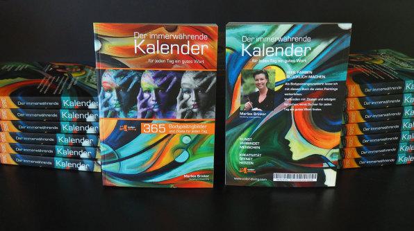 Der immerwährende Kalender, Bodypainting Marlies Brinker, color diving