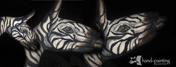 Zebra, Bodypainting NRW, hand painting NRW, Marlies Brinker, Düsseldorf, Köln, Dortmund