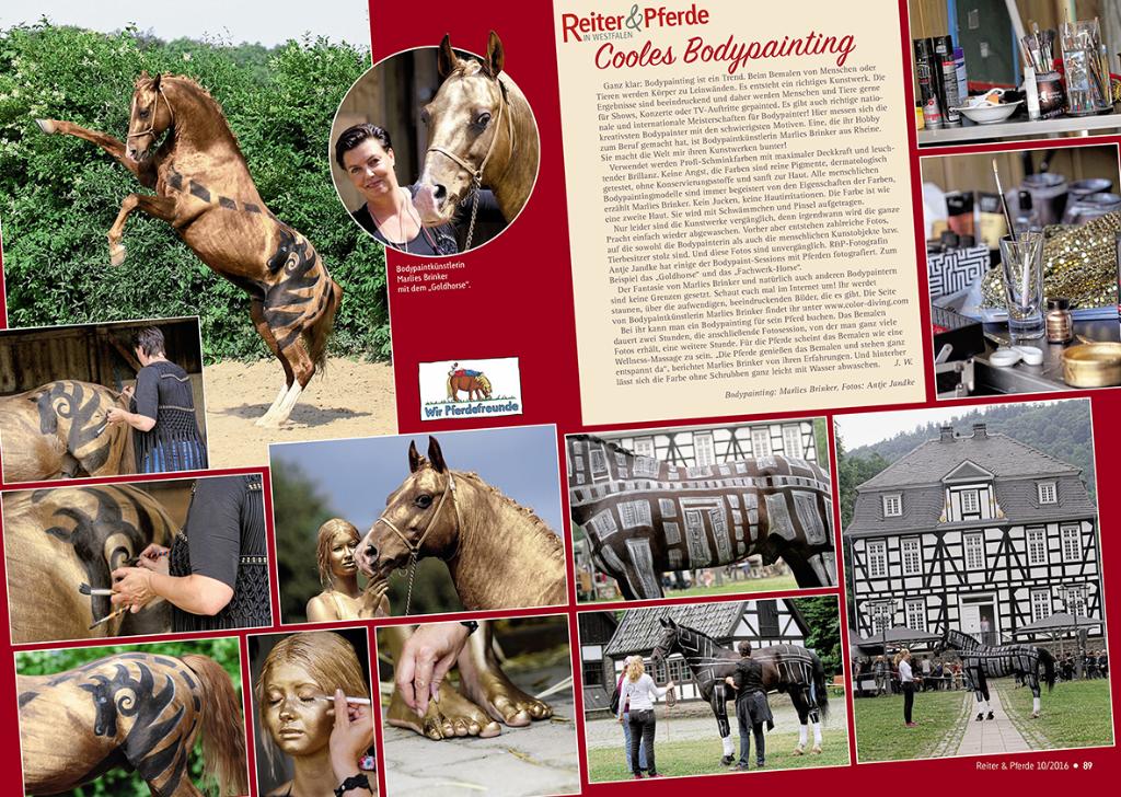 Freu, freu, freu, mein Horspainting mit Fotoshooting jetzt druckfrisch in der neuen Ausgabe der Zeitschrift Reiter & Pferde in Westfalen . Und ein ganz großes DANKEEEEE an Antje, von Tierfotografie Jandke für die tolle Zusammenarbeit.