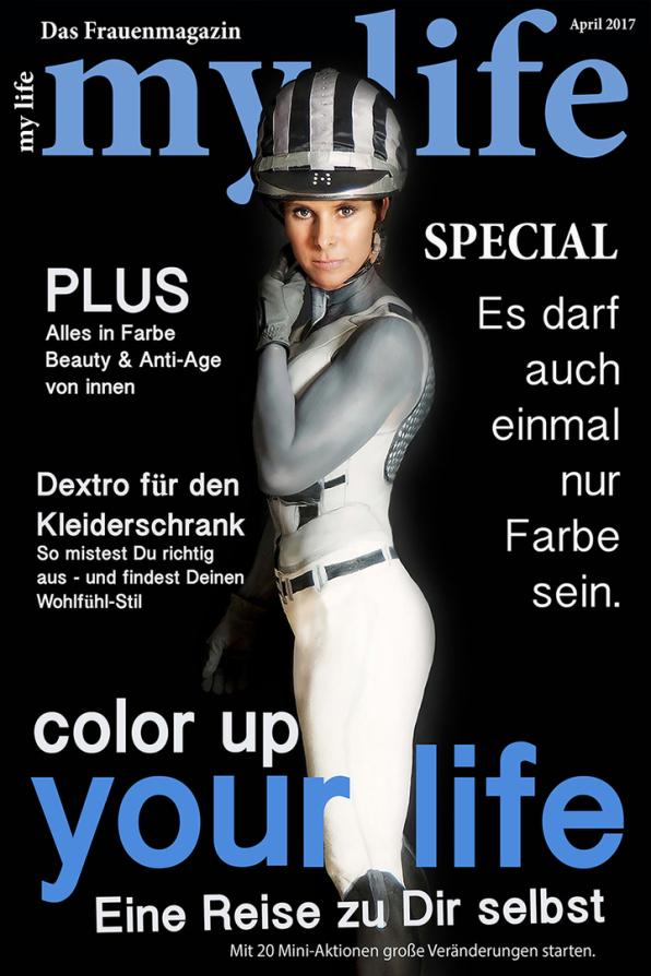 Bodypainting für die Titelseite, www.color-diving.com, Bodypaintingkünstlerin Marlies Brinker