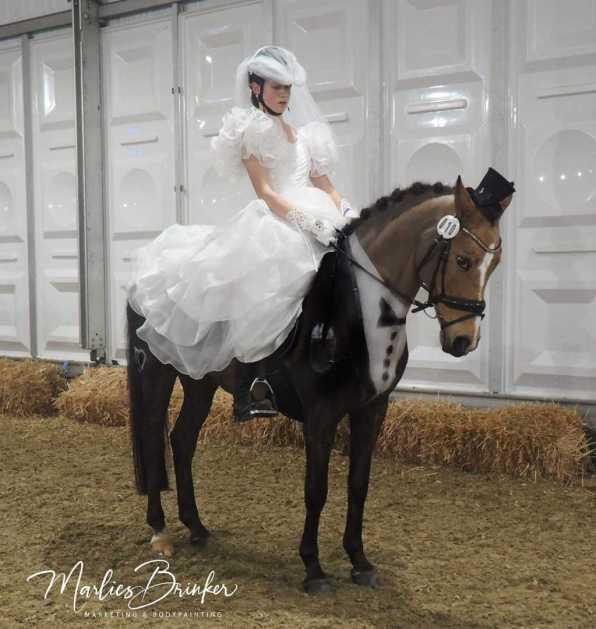 Horsepainting, Pferd anmalen, Braut, Bräutigam, Equitana, Marlies Brinker