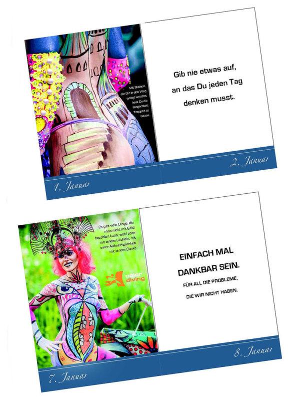 Bodypainting, Kalender, Fotoshooting, Der immerwährende Kalender, Marlies Brinker