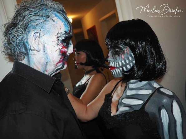 Halloween, Make up, Bodypainting, rot, glitzer, Sterne, beauty, Marlies Brinker, Bodypainting, Messen, Fotoshootinga
