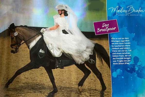Horse Painting, Brautpaar, Hochzeit, Bodypainting, Pferd anmalen, Event, Braut, Bräutigam, Marlies Brinker, Fotoshooting, schwarz, weiß, Hochzeit, buchen, besonders, Körperkunst