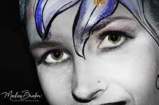 Bodypainting, Rosen, Schmetterlinge, lila, blau, orange, Blumen, Marlies, Brinker, color, diving, Messen, Events, buchen, Highlight