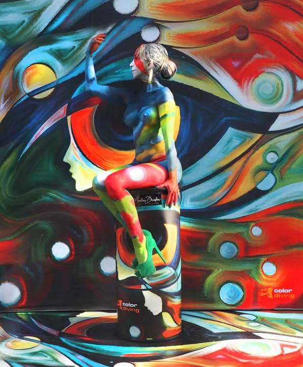 Bodypainting, Messen, Ausstellung, buchen, bunt, professionell, Marlies, Brinker, Körperkunst, Camouflage, Köln, Düsseldorf, Dortmund, NRW, Niedersachsen, Bad Hersfeld