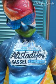 Bodypainting, Altstadtfest Kassel, Marlies Brinker